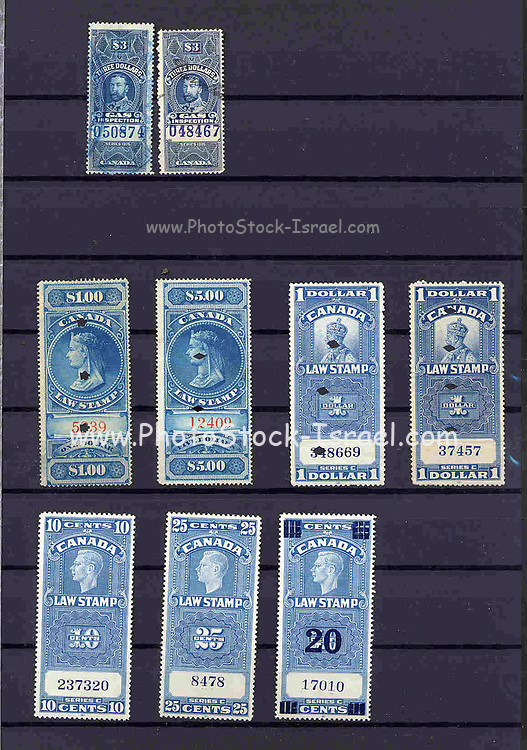 Canadian War tax, Electricity and revenue stamps