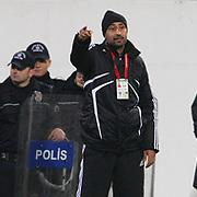 Gaziantepspor's coach Tolunay KAFKAS during their Turkey Cup semi final soccer firsth match Besiktas between Gaziantepspor at the Inonu stadium in Istanbul Turkey on Wednesday 06 April 2011. Photo by TURKPIX
