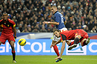 FOOTBALL - INTERNATIONAL FRIENDLY GAMES 2011/2012 - FRANCE v BELGIUM - 15/11/2011 - PHOTO JEAN MARIE HERVIO / DPPI - KARIM BENZEMA (FRA) / DANIEL VAN BUYTEN (BEL)