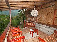 Veranda outside the guest rooms at San Jorge Eco-Lodge, Tandayapa Valley, Ecuador