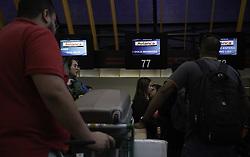 May 25, 2019 - SãO Paulo, Brazil - SÃO PAULO, SP - 25.05.2019: MOVIMENTAÇÃO GUICHÊ AVIANCA EM CONGONHAS - Passengers are waiting at Avianca&#39ooth at Cat Congonhas Airport, south of Sao Paulo, on Saturday morning (25). Anac suspended the company's opionsions in Brazil for security reasons. (Credit Image: © Bruno Rocha/Fotoarena via ZUMA Press)