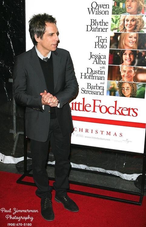 15 December 2010 - New York, NY -  Ben Stiller.  The world premiere of 'Little Fockers' at Ziegfeld Theatre on December 15, 2010 in New York City. Photo Credit: Paul Zimmerman/AdMedia