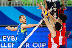Tine Urnaut of Slovenia during volleyball match between Slovenia and Chile in Group A of FIVB Volleyball Challenger Cup Men, on July 3, 2019 in Arena Stozice, Ljubljana, Slovenia. Photo by Matic Klansek Velej / Sportida