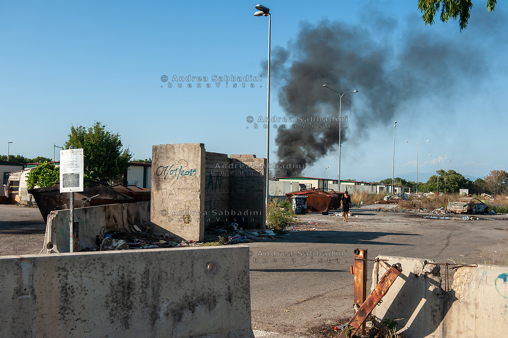Roma, 23/07/2020: Campo Nomadi di Castel Romano, Area F a rischio sgombero.<br /> © Andrea Sabbadini
