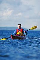 Man kayaking off Seattle Washington USA&#xA;<br />
