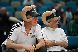 March 20, 2017 - Reno, Nevada, U.S - Reno Bighorns fans show off their Big Horns during the NBA D-League Basketball game between the Reno Bighorns and the Texas Legends at the Reno Events Center in Reno, Nevada. (Credit Image: © Jeff Mulvihill via ZUMA Wire)