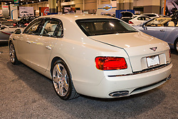 CHARLOTTE, NORTH CAROLINA - NOVEMBER 20, 2014: Bentley Flying Spur on display during the 2014 Charlotte International Auto Show at the Charlotte Convention Center.