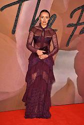 Laura Haddock attending The Fashion Awards 2016 at the Royal Albert Hall, London.