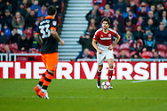 Middlesbrough defender George Friend (3)  during the The FA Cup match between Middlesbrough and Sheffield Wednesday at the Riverside Stadium, Middlesbrough, England on 8 January 2017. Photo by Simon Davies.