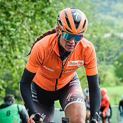 VAN DEN BROEK-BLAAK Chantal ( NED ) – Boels - Dolmans Cycling Team ( DLT ) - NED – Querformat - quer - horizontal - Landscape - Event/Veranstaltung: Liège Bastogne Liège - Category/Kategorie: Cycling - Road Cycling - Elite Women - Elite Men - Location/Ort: Europe – Belgium - Wallonie - Liège - Start: Bastogne-Womens Race - Liège-Mens Race - Finish: Liège - Discipline: Road Cycling - Distance: 257 km - Mens Race - 135 km - Womens Race - Date/Datum: 04.10.2020 – Sunday - Photographer: © Arne Mill - frontalvision.com