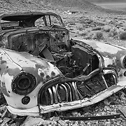 Abandoned 1947 Buick Roadmaster - Eureka Mine - Death Valley, CA - Black & White
