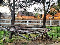 16 December 2013:  Winter barn property in Temecula, California.  iPhone Stock Photo