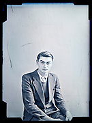 vintage portrait of an young adult man in suit France, circa 1930s
