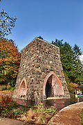 USA, Oregon, Lake Oswego, George Rogers Park, the first iron furnace on the west coast. Digital Composite, HDR