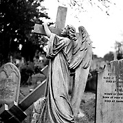 Angels at Highgate Cemetery during a Gerry Rafferty photosession