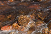 Extended exposure of the riverbed of the Findhorn RIver in Strathdearn, Scotland.