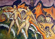 Ernst Ludwig Kirchner (6 May 1880 – 15 June 1938),  German expressionist painter   Personnes entrant dans la mer