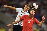 v.l. Joshua Kimmich (Deutschland), Jo Inge Berget<br /> Stuttgart, 04.09.2017, Fussball, WM-Qualifikation,<br /> Tyskland - Norge <br /> <br /> Norway only