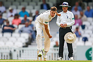 Morne Morkel of Surrey bowling during the Specsavers County Champ Div 1 match between Surrey County Cricket Club and Kent County Cricket Club at the Kia Oval, Kennington, United Kingdom on 10 July 2019.