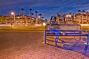Downtown Huntington Beach at Night