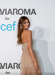Lorena Rae arriving at a photocall for the Unicef Summer Gala Presented by Luisaviaroma at Villa Violina on August 10, 2018 in Porto Cervo, Italy. Photo by Alessandro Tocco/ABACAPRESS.COM