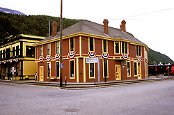 AK: Skagway, Alaska, Klondike Gold Rush National Historic Park.Photo Copyright: Lee Foster, lee@fostertravel.com, www.fostertravel.com, (510) 549-2202.Image: akklon201 .