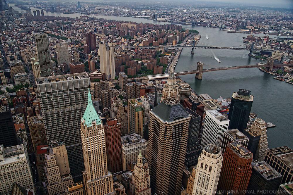 Lower Manhattan featuring Brooklyn & Manhattan Bridges over East River