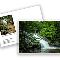 Beede Falls, Sandwich, New Hampshire greeting card. 5x7 100% recycled paper Made in USA
