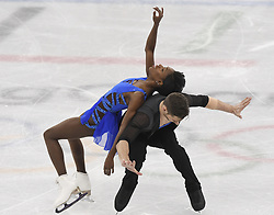 February 8, 2018 - Pyeongchang, South Korea - MORGAN CIPRES and VANESSA JAMES of France compete Friday, February 9, 2018, in the Pairs Short Program Team event event on opening day of the Figure Skating Team competition at the Winter Olympic Games in at the Gangneung Ice Arena in Pyeongchang, S. Korea. Photo by Mark Reis, ZUMA Press/The Gazette (Credit Image: © Mark Reis via ZUMA Wire)