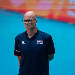 Coach Marko Klok of Netherlands during United States - Netherlands, FIVB U20 Women's World Championship on July 15, 2021 in Rotterdam