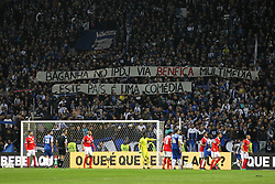 December 1, 2017 - Porto, Porto, Portugal - Message from FC Porto fans during the Premier League 2016/17 match between FC Porto and SL Benfica, at Dragao Stadium in Porto on December 1, 2017. (Credit Image: © Dpi/NurPhoto via ZUMA Press)