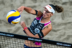 Anouk Verge Depre SUI in action during the last day of the beach volleyball event King of the Court at Jaarbeursplein on September 12, 2020 in Utrecht.
