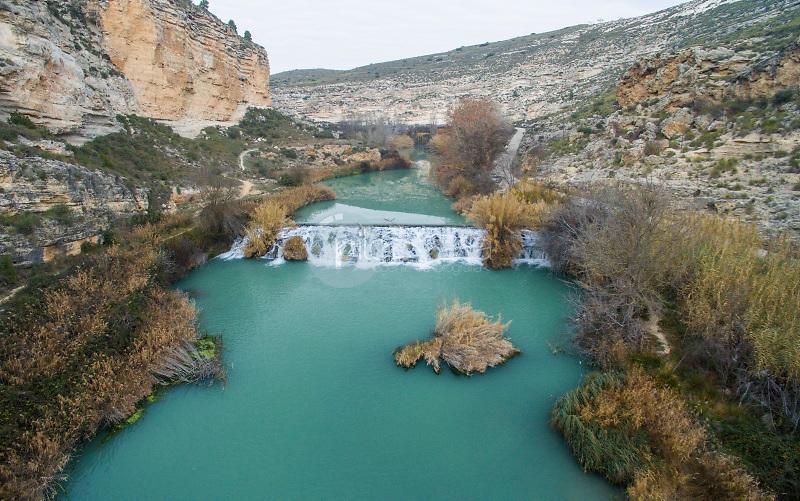 Cañón del río Júcar. Ribera de Cubas. La Manchuela. Albacete ©Airdrone Producciones / PILAR REVILLA