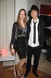 Model MORWENNA LYTTON COBBOLD and MATTHEW LASKEY at the Scarlet TV Launch Party -  a new series of flat panel LCD televisons from LG electronics held at the refurbished church, 1 Marylebone, London on 30th April 2008.<br />