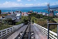 The funicular, a Wellington Cable Car, provides a scenic journey from the heart of downtown to the Wellington Botanic Garden in New Zealand