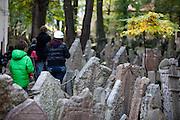 Der Alte Jüdische Friedhof in Prag.