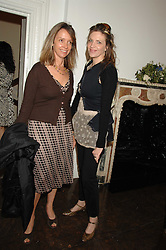 Left to right, SABRINA GUINNESS and MARTHA FIENNES at a lunch in aid of African Solutions To African Problems held at Il Bottaccio, 9 Grosvenor Place, London on 20th May 2008.<br />