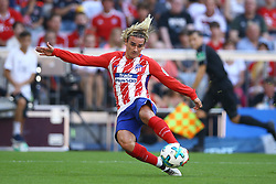August 1, 2017 - Munich, Germany - Antoine Griezmann of Atletico de Madrid in action durign the first Audi Cup football match between Atletico Madrid and SSC Napoli in the stadium in Munich, southern Germany, on August 1, 2017. (Credit Image: © Matteo Ciambelli/NurPhoto via ZUMA Press)