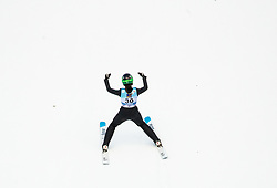 Ursa Bogataj of Slovenia celebrates during 1st Round at Day 1 of World Cup Ski Jumping Ladies Ljubno 2019, on February 8, 2019 in Ljubno ob Savinji, Slovenia. Photo by Matic Ritonja / Sportida