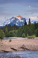 Mount Shuksan seen from NooksacK River Valley, North Cascades Washington