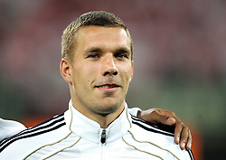 06.09.2011, PGE Arena, Danzig, POL, FSP, Polen vs Deutschland, im Bild LUKAS PODOLSKI NIEMCY// during the international frindly football game between Poland and Germany at PGE Arena Gdansk Poland on 2011-09-06. EXPA Pictures © 2011, PhotoCredit: EXPA/ Newspix/ Michal Novak +++++ ATTENTION - FOR AUSTRIA/(AUT), SLOVENIA/(SLO), SERBIA/(SRB), CROATIA/(CRO), SWISS/(SUI) and SWEDEN/(SWE) CLIENT ONLY +++++