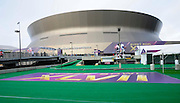1/29/13 New Orleans LA.-Pictured is the FanZone outside the Super Dome.Media Day at the the Mercedes Benz Super Dome for the NFC champion San Francisco 49ers's and the AFC Champions  Baltimore Ravens  prior to Super Bowl XLV11 in New Orleans. Photo©Suzi Altman