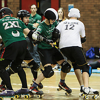 2014-11-22 Manchester Roller Derby's New Wheeled Order (A) vs Boy Division (mixed men's team)