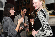 JASMINE GUINNESS; DAVID GANDY; JADE PARFITT, London College of Fashion hosts party to celebrate the opening of Carmen: A Life in Fashion with guest of honour Carmen Dell'Orefice. Il Bottachio, Hyde Park Corner. London. 16 November 2011. <br /> <br />  , -DO NOT ARCHIVE-© Copyright Photograph by Dafydd Jones. 248 Clapham Rd. London SW9 0PZ. Tel 0207 820 0771. www.dafjones.com.
