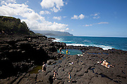 Queens Bath, tideppol, Princeville, Hanalei, Kauai, Hawaii