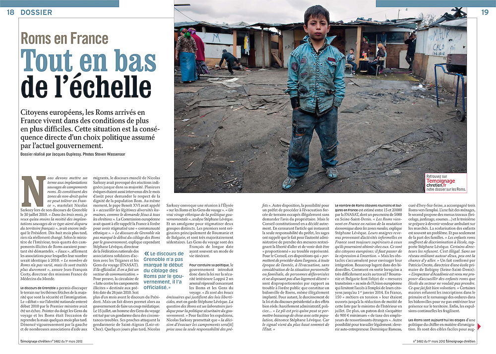 Assignment. The situation of Roma in France. (France)