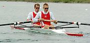 FISA World Cup Rowing Munich Germany..27/05/2004..Thursday morning opening heats..DEN M2-  .Stroke  Mads Andersen and Stevan Moelvig.. [Mandatory Credit: Peter Spurrier: Intersport Images].
