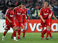 Photo: Paul Thomas.<br /> AC Milan v Liverpool. UEFA Champions League Final. 23/05/2007.<br /> <br /> Dejected Liverpool after Milano score.