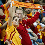 Galatasaray's supporters during their Turkish Super League soccer match Galatasaray between Bursaspor at the TT Arena at Seyrantepe in Istanbul Turkey on Sunday 02 September 2012. Photo by TURKPIX