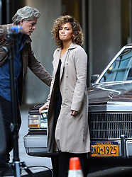October 5, 2016 - New York, New York, United States - Actors Ray Liotta and Jennifer Lopez on the downtown Manhattan set of the TV show 'Shades of Blue' on october 5 2016 in New York City  (Credit Image: © Zelig Shaul/Ace Pictures via ZUMA Press)